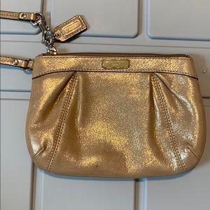 Gold Coach wristlet